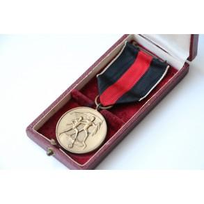 1. Oktober 1938 Czech annexation medal + case