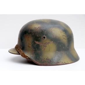 """Luftwaffe M40 """"turtle camouflage"""" Q64 helmet"""