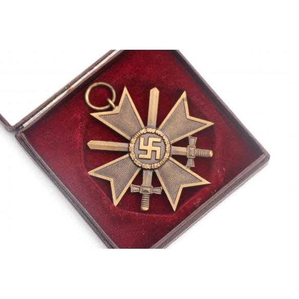 "War merit cross 2nd class with swords ""L/16"" + early LDO box"