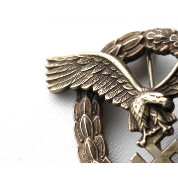 "Luftwaffe pilot badge by Gebr. Wegerhoff ""GWL"", named"