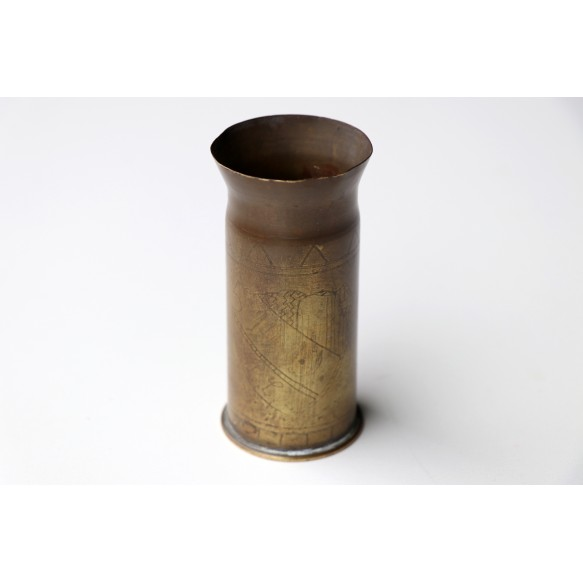 1914-1918 trench art copper shell Nizy-le-Compte 1918