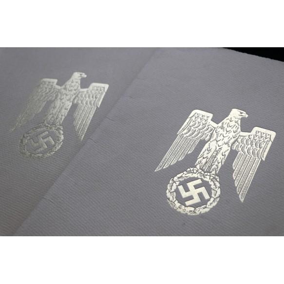 German cross in silver grouping to Generalstabsrichter and Senatspräsident Dr. Friedrich Neuroth