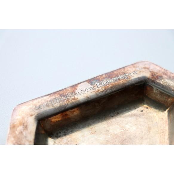 "Period ""830S"" silver ashtray, I. Flak Regiment 18"