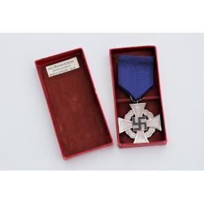 25 year civil service cross in box by Jos. Rücker & Sohn