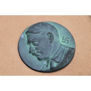 AH table bronze plaque
