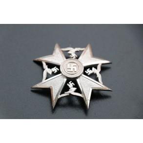 "Spanish cross in silver w/o swords by Otto Schickle, ""L/21"" distribution mark!!"