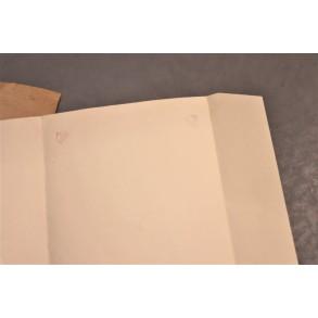 Period large format folder with national eagle imprint + envelope