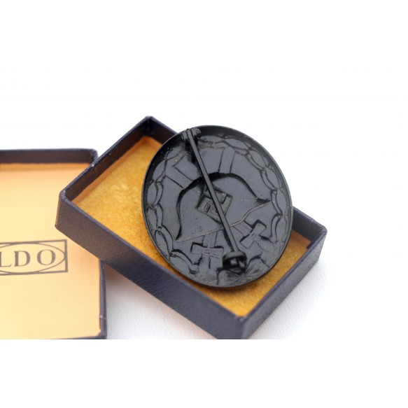 """Wound badge in black by Steinhauer & Lück """"L/16"""" + LDO blue box"""