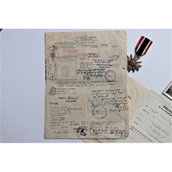 War merit cross 2nd class goruping to R. Schüring, A.R. 13, 1944