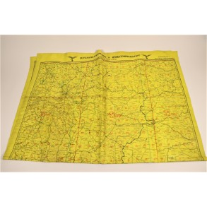 Luftwaffe pilot floppy map for night fighters (yellow)