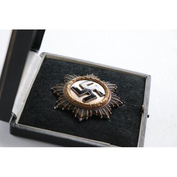 """German cross in gold by C.F. Zimmermann """"20"""", HEAVY + BOX"""