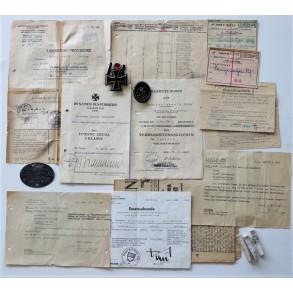 GD Grossdeutschland grouping to Pionier Gefr. Günther Wohlgemuth, EKII, EK, tank destruction badge,...