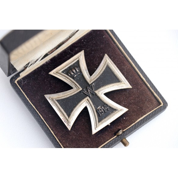 "WW1 Iron cross 1st class by ""G"" + box"