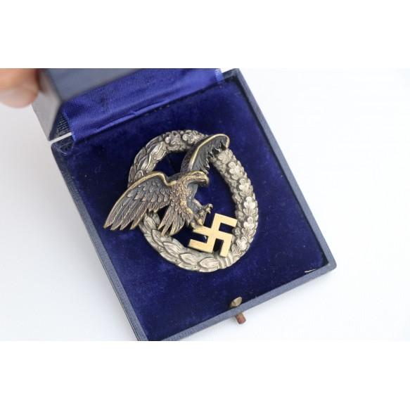 Luftwaffe observer badge by C.E. Juncker + case