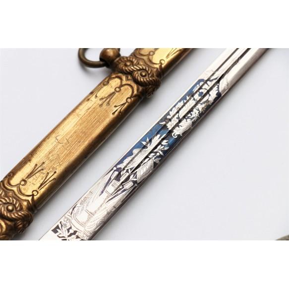 """WW1 Kaiserliche Marine officer's dagger by WKC, named """"Witte"""""""