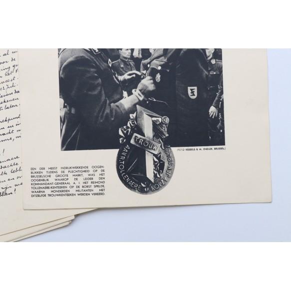 "Flemish collaboration luxury photo brochure ""De Dr R. Tollenaere Marsch"" Brussels 1942!!!"