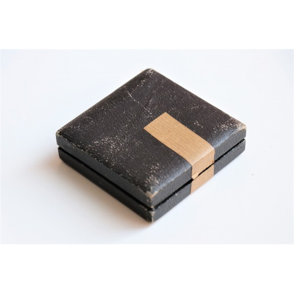 "Empty black case ""halbetui"" for wound badge or war merit cross 1st class"
