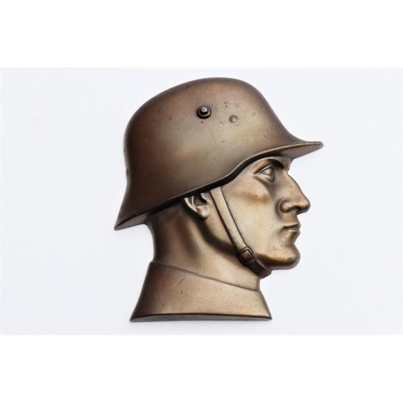 Bronzed WH Soldier decorative desk stand