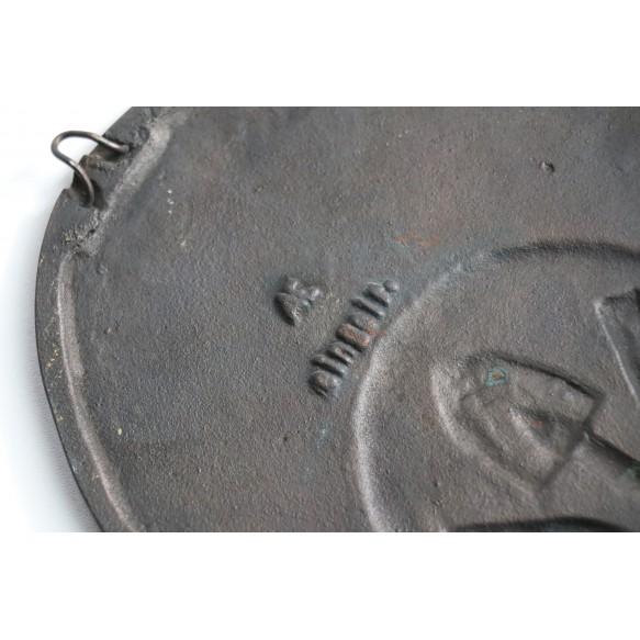 "RAD bronze ""Lager Haus Forst"" plate"