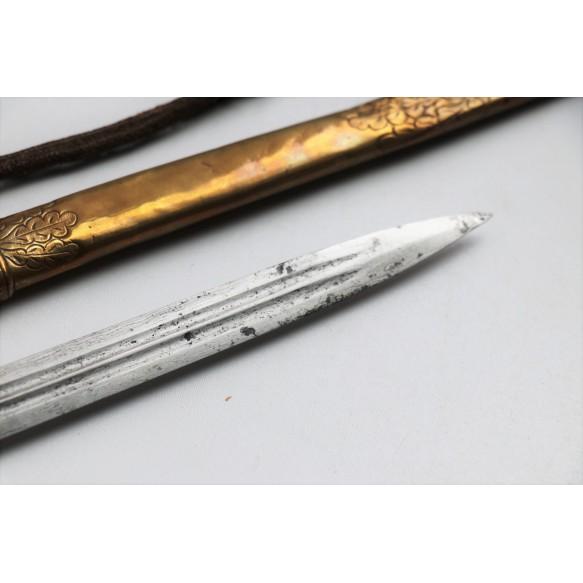 """WW1 Kaiserliche Marine Damast dagger by Carl Eickhorn """"C.E."""" Solingen"""