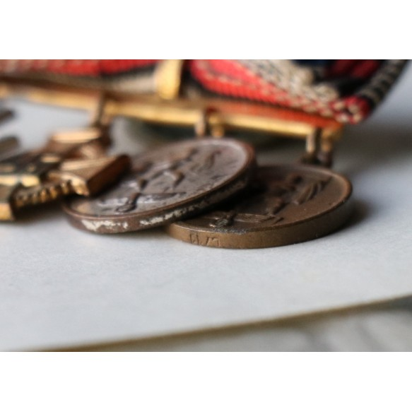Miniature annexation medal chain by W. Deumer