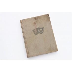 """Period book """" Belgien und Nordfrankreich Volk Raum Geschichte"""" attributed for 2 shot downs 1944 Belgium!!!"""