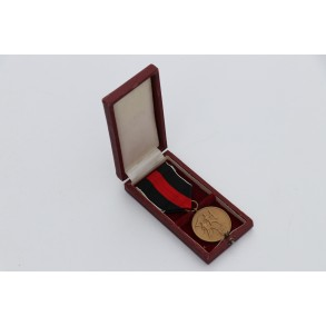 1. October 1938 Czech annexation medal with box.