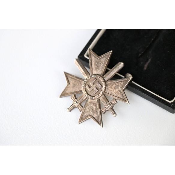 """War merit cross 1st class with swords by Julius Bauer """"43"""" + BOX"""
