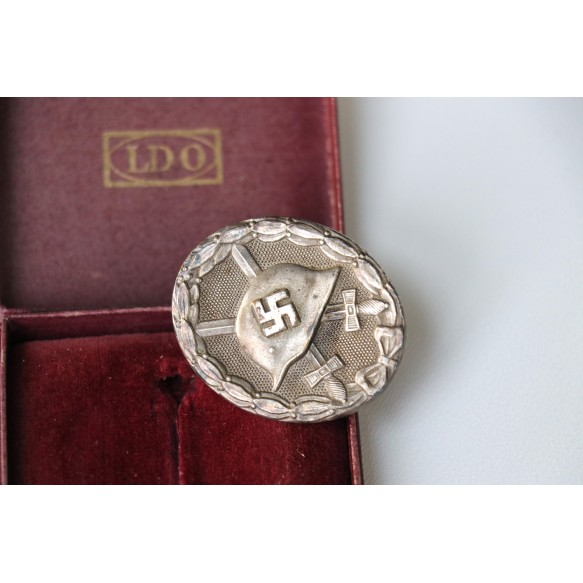 "Rare Wound badge in silver by Steinhauer & Luck ""L/16"" + BOX"