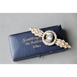 Luftwaffe reconnaissance clasp in silver + case