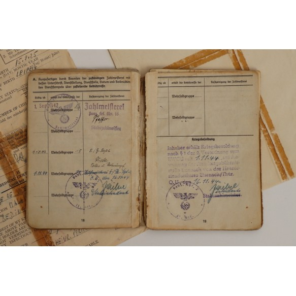 Soldbuch + documents to Uffz. R. Lustermann, Pz Assault badge 25! Pz Rgt 2, Poland, Warsaw 1944-45