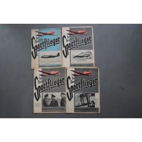 """4 magazines """"Der Deutsche Sportflieger"""" 1944"""