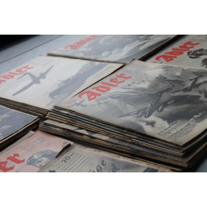 """Large collection of the famous """"Der Adler"""" magazine 1940-1945, 77 pieces"""