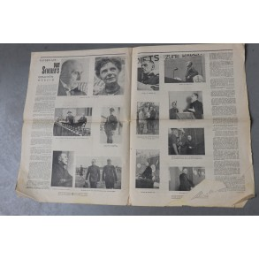 "Flemish collaboration: period ""Hier Dinaso"" Verdinaso news paper 1941"
