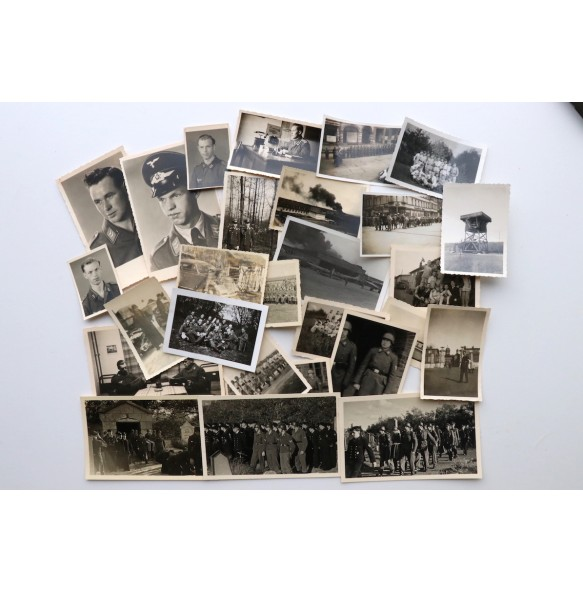 Luftwaffe photo lot: portraits, airfield, Holland funeral,...