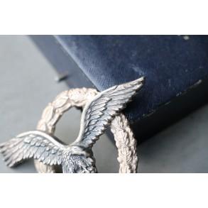 """Luftwaffe pilot badge by Brüder Schneider """"BSW"""" + box"""