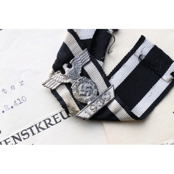 Grouping to O.Ltn W. Molther, GR 410, Iron Cross clasp 2nd class for Demjansk