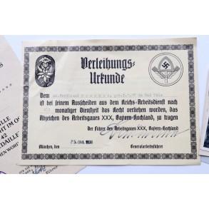 Document group to Schirrmeister F. Gossner, EK2 29.10.39!!!