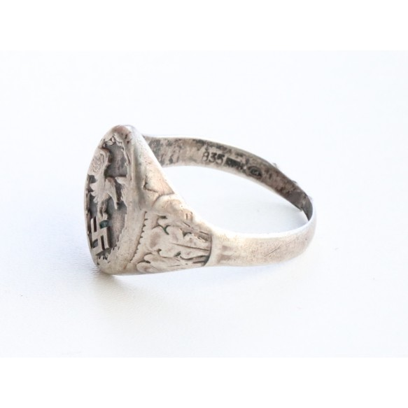 "Luftwaffe observer ring ""835"" silver"