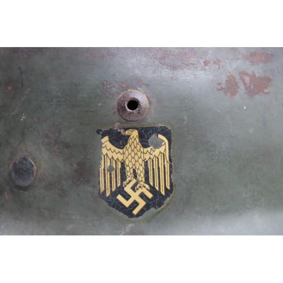 Army M35 double decal steel helmet