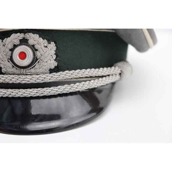 Army officer visor cap