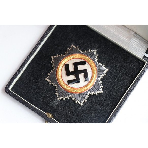 """German cross in gold by Otto Klein """"134"""" + box"""