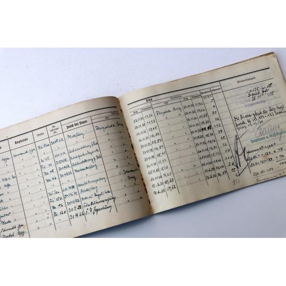 Flugbuch Leutnant W. Merzenich, Henschel Hs-126, Fw 189! Invasion 1940, crashed Geel, Belgium 13 Mai. France, Russia