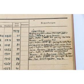 """Feindflugbuch"" Leutnant W. Merzenich, Henschel Hs-126, Fw 189! Invasion 1940, crashed Geel, Belgium 13 Mai. France, Russia"