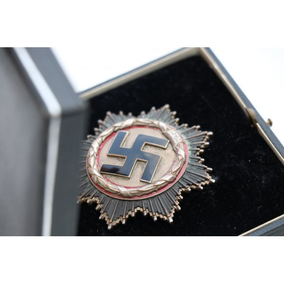 German cross in silver by Deschler & Sohn + box