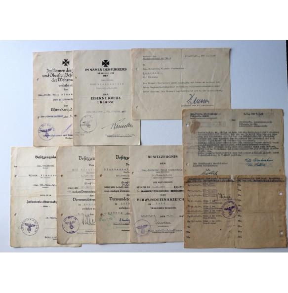"Combat medic group to W. Blankenheim, San. Feldw. Gren. Rgt 666, wound badge in gold! ""Valley of death"" battle"
