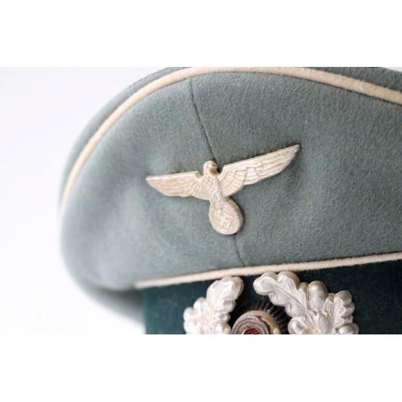 Wehrmacht infantry officer visor cap by Erel
