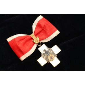 German social welfare honour cross 1st class with oak leafs by Gebr. Godet