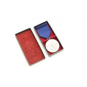 Police 8 year service medal + box
