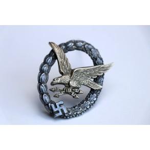 Luftwaffe Radio Operator / Airginner badge by IMME & SOHN